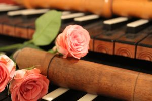 Recorder and roses